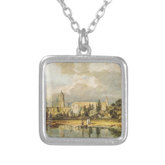 South View of Christ Church, from the Meadows Square Pendant Necklace
