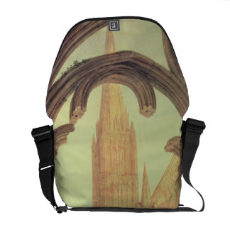 South View of Salisbury Cathedral from the Cloiste Messenger Bag