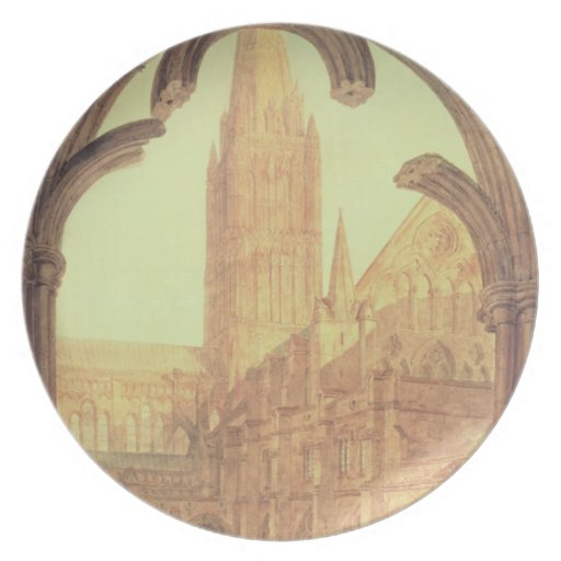South View of Salisbury Cathedral from the Cloiste Party Plates
