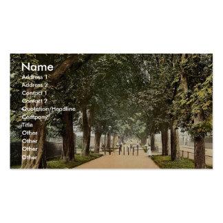 South Walk, Dorchester, England rare Photochrom Business Card Template