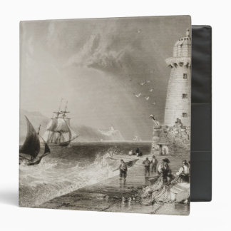South Wall Lighthouse with Howth Hill 3 Ring Binder