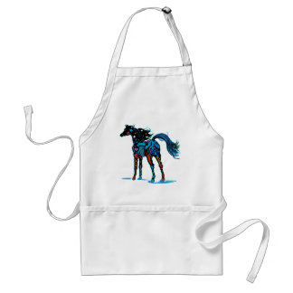 South West Horse in Brilliant Colors T Shirts Adult Apron