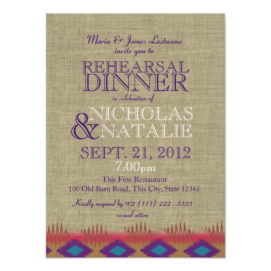 South West Rehearsal Dinner Card