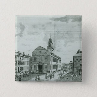 South West View of The Old State House Button
