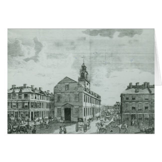 South West View of The Old State House Card