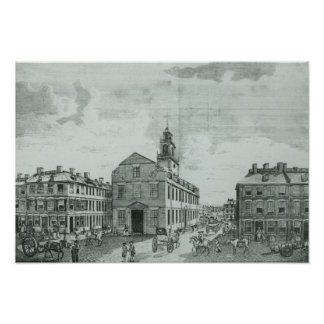 South West View of The Old State House Print