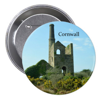 South Wheal Frances Tin Mine Cornwall England Pinback Button