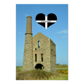 South Wheal Frances Tin Mine Cornwall England Poster