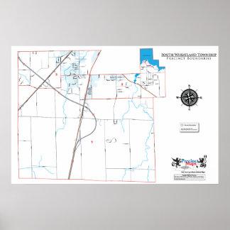 South Wheatland Township Precinct Map Poster