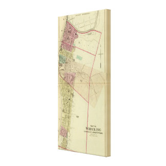 South Wheeling, fifth, sixth and eighth wards Stretched Canvas Print