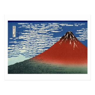 South Wind, Clear Sky by Hokusai Postcard