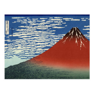 South Wind, Clear Sky (by Hokusai) Postcard