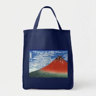 South Wind Clear Sky, Red Fuji, Katsushika Hokusai Tote Bag