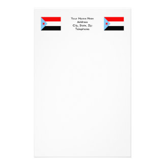 South Yemen Flag (1967-1990) Stationery