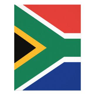 Southafrican flag letterhead