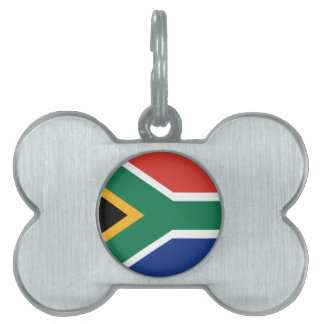 Southafrican flag pet name tag