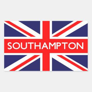 Southampton: Bandera británica Pegatina Rectangular
