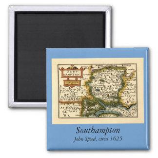 Southampton: Mapa de Southamptonshire el condado d Imán Cuadrado