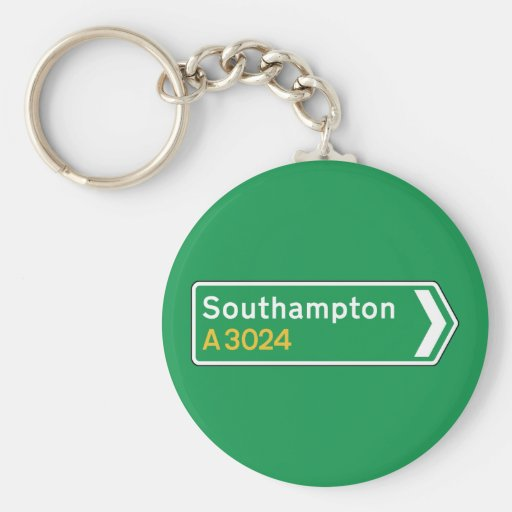 Southampton, señal de tráfico BRITÁNICA Llaveros