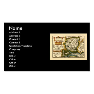 Southampton: Southamptonshire Hampshire County Map Business Card