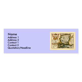 Southampton: Southamptonshire Hampshire County Map Double-Sided Mini Business Cards (Pack Of 20)