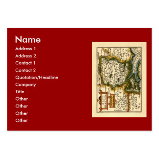 Southampton: Southamptonshire Hampshire County Map Large Business Card