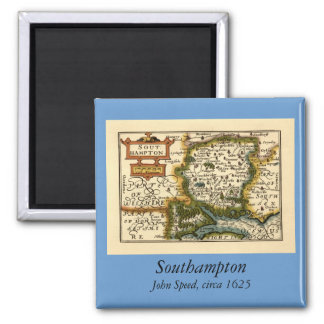 Southampton: Southamptonshire Hampshire County Map Refrigerator Magnet