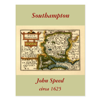 Southampton: Southamptonshire Hampshire County Map Postcard