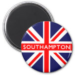 Southampton UK Flag 2 Inch Round Magnet