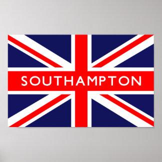 Southampton UK Flag Poster