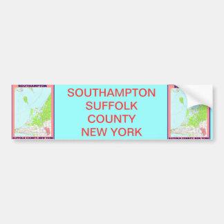 Southampton Village NY Vintage Map ca. 1956 Bumper Sticker