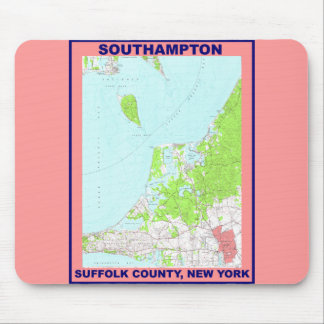 Southampton Village NY Vintage Map ca. 1956 Mouse Pad
