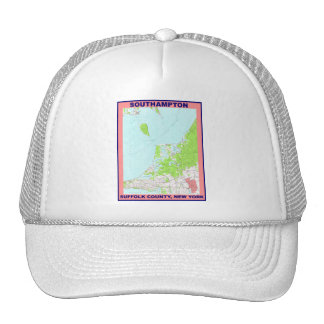 Southampton Village NY Vintage Map ca. 1956 Trucker Hat