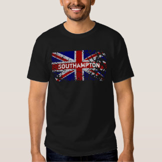 Southampton Vintage Peeling Paint Union Jack Flag T Shirt