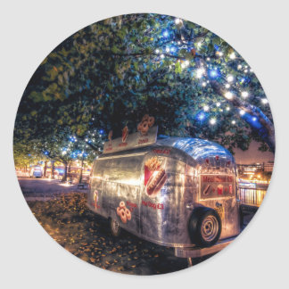 Southbank Food Truck, London Classic Round Sticker