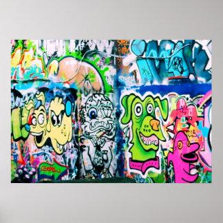 Southbank Graffiti - London Poster