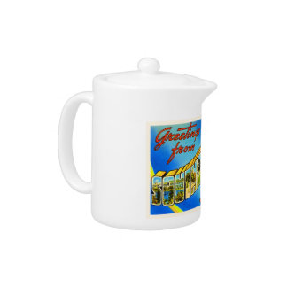 Southbridge Massachusetts MA Old Travel Souvenir Teapot