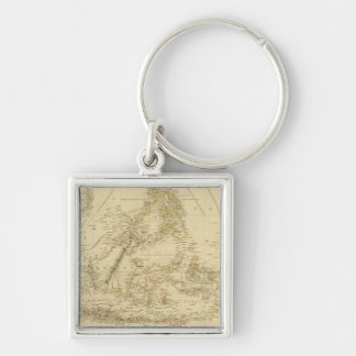 Southeast AsiaIndonesia Silver-Colored Square Keychain