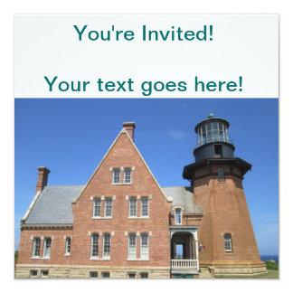 Southeast Lighthouse Building Block Island Invitation
