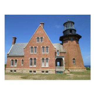Southeast Lighthouse Building Block Island Postcard