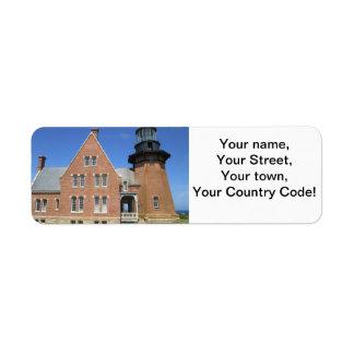 Southeast Lighthouse Building Block Island Return Address Label