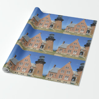 Southeast Lighthouse Building Block Island Wrapping Paper