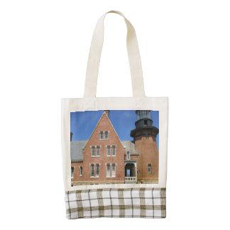 Southeast Lighthouse Building Block Island Zazzle HEART Tote Bag