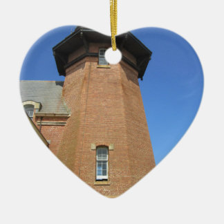 Southeast Lighthouse Tower Block Island Ceramic Ornament