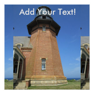 Southeast Lighthouse Tower Block Island Poster