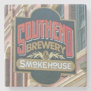 Southend Brewery And Smokehouse Charleston, SC. Stone Coaster