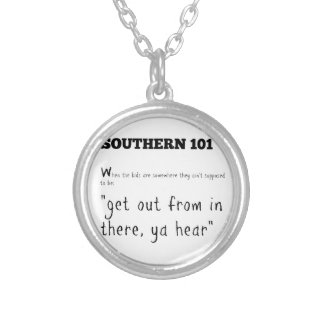southern101-2 silver plated necklace