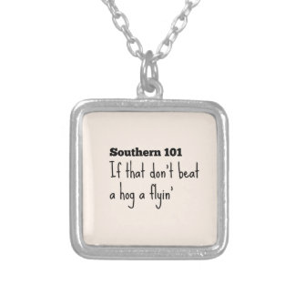 southern101-3 silver plated necklace