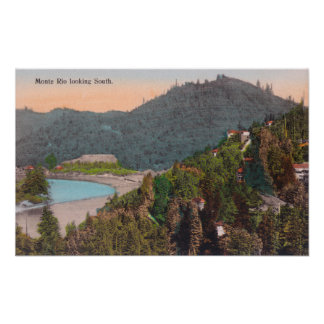 Southern Aerial View from Monte Rio Poster