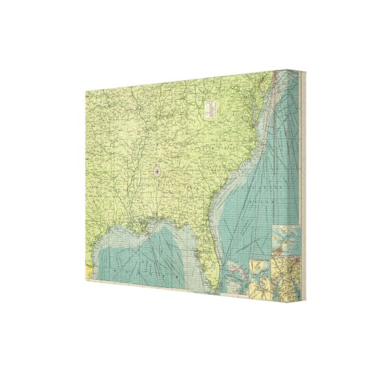 Southern American Atlantic ports Canvas Print
